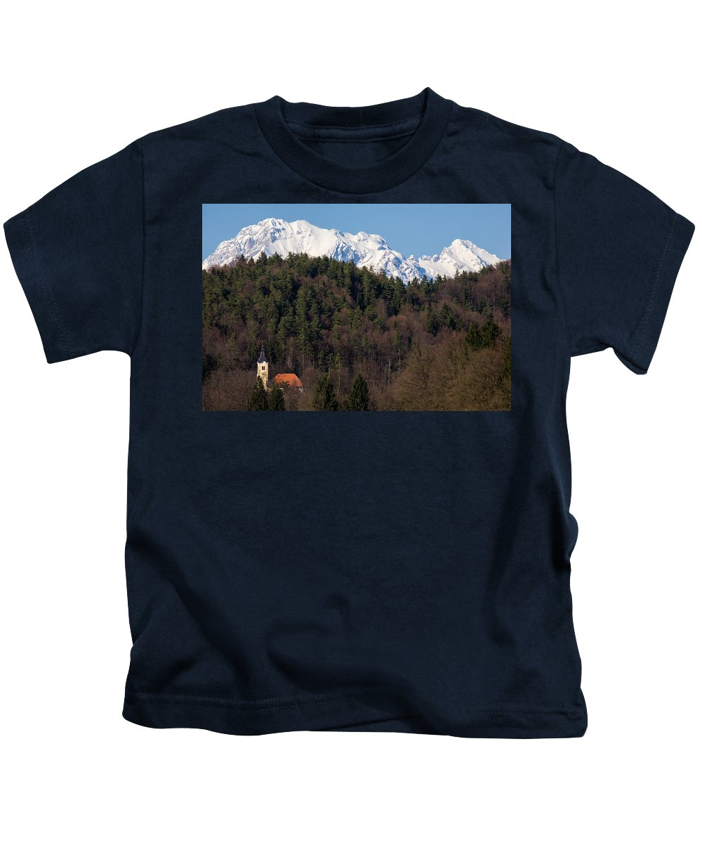 Church Kids T-Shirt featuring the photograph Peak A Boo by Ian Middleton