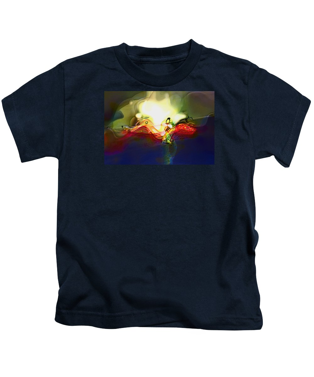 Abstract Kids T-Shirt featuring the digital art Performance by Richard Thomas