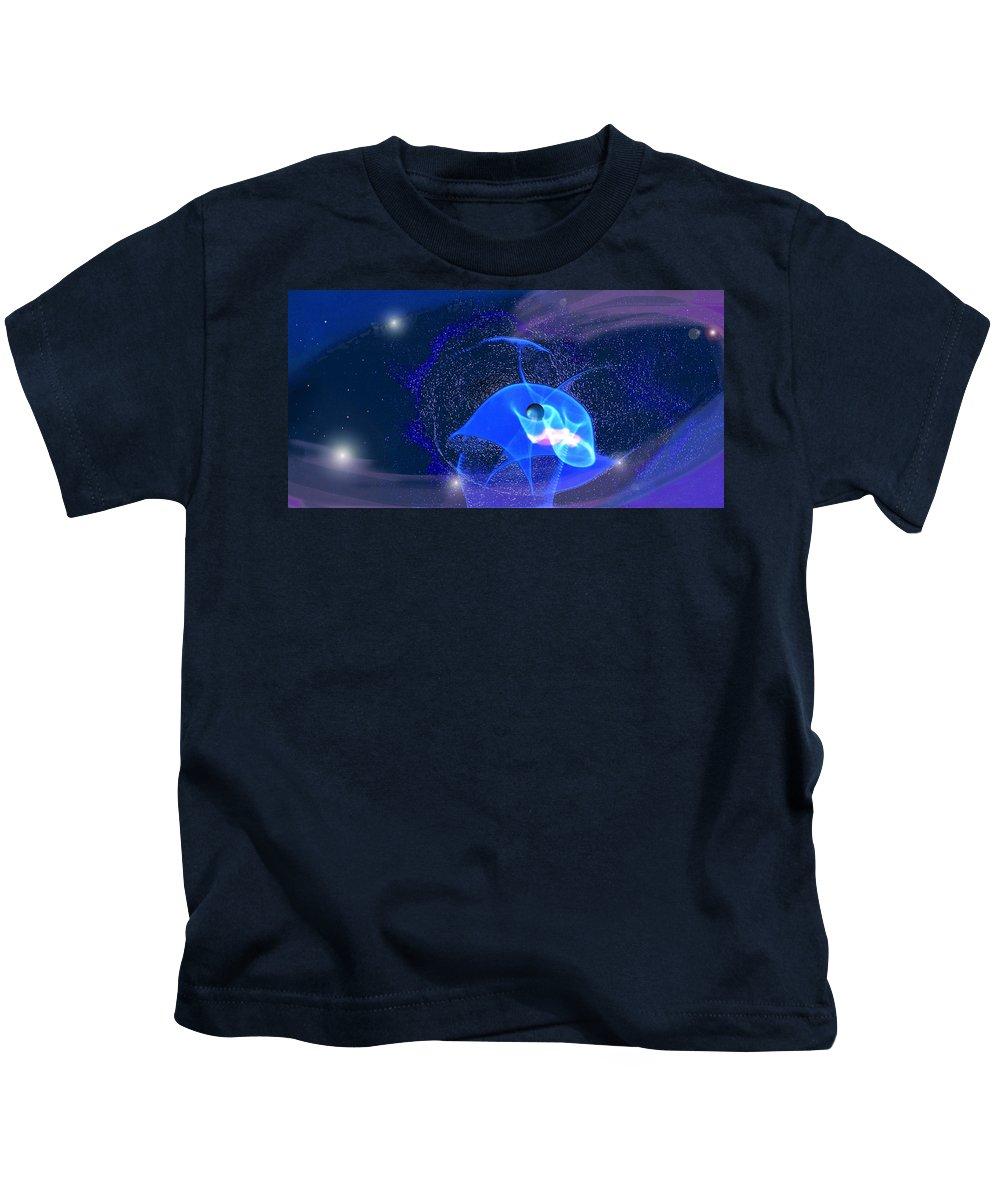 Space Kids T-Shirt featuring the digital art Phenomenon II by Steve Karol