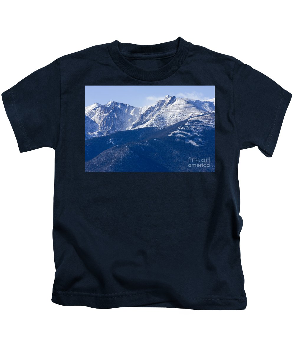 Pikes Peak Kids T-Shirt featuring the photograph Pikes Peak by Steve Krull