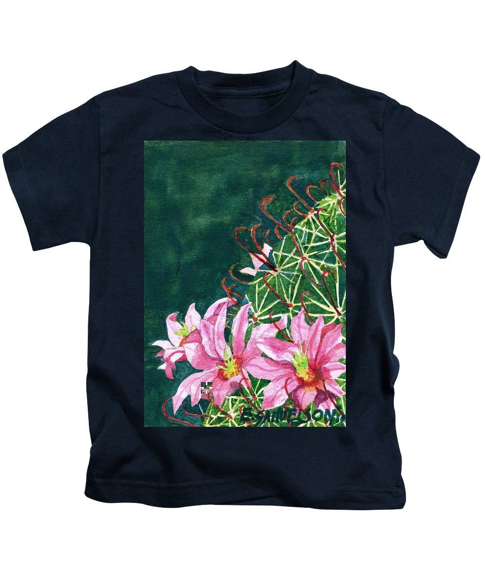 Fishhook Barrel Kids T-Shirt featuring the painting Pink Beauty by Eric Samuelson
