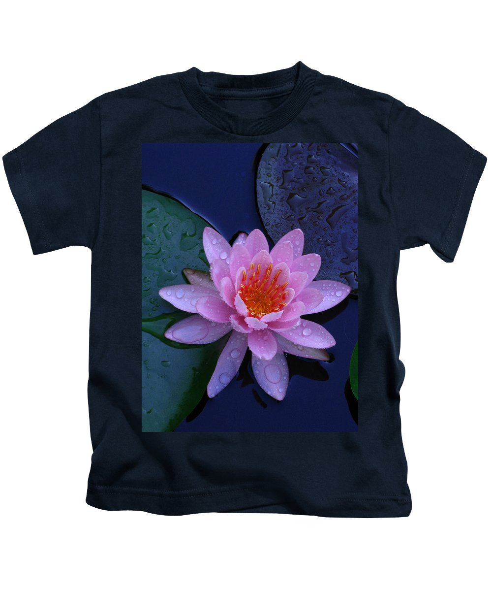 Waterlily Kids T-Shirt featuring the photograph Pink Waterlily by Raymond Salani III