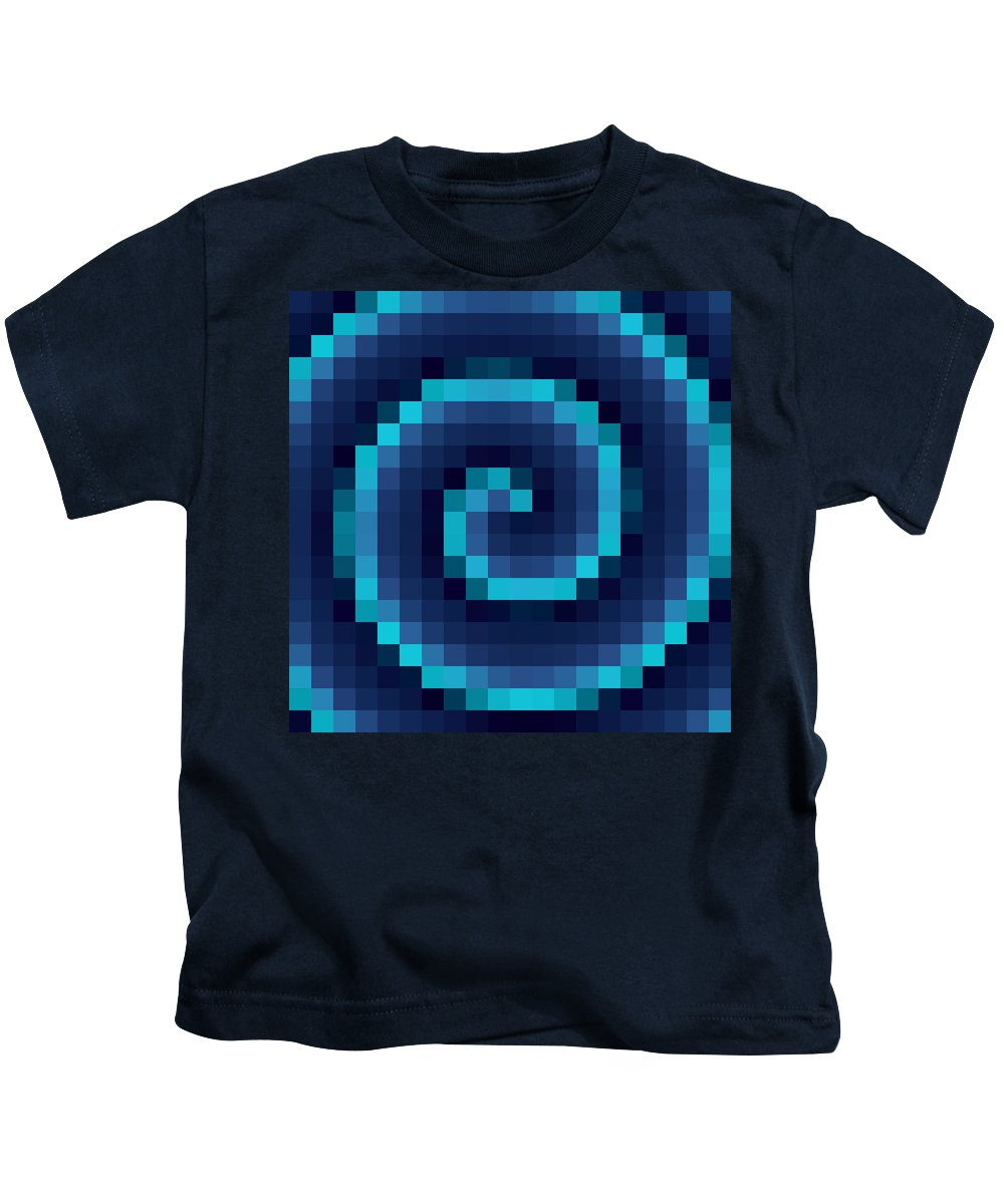 Swirl Kids T-Shirt featuring the digital art Pixel 4 by Ron Hedges