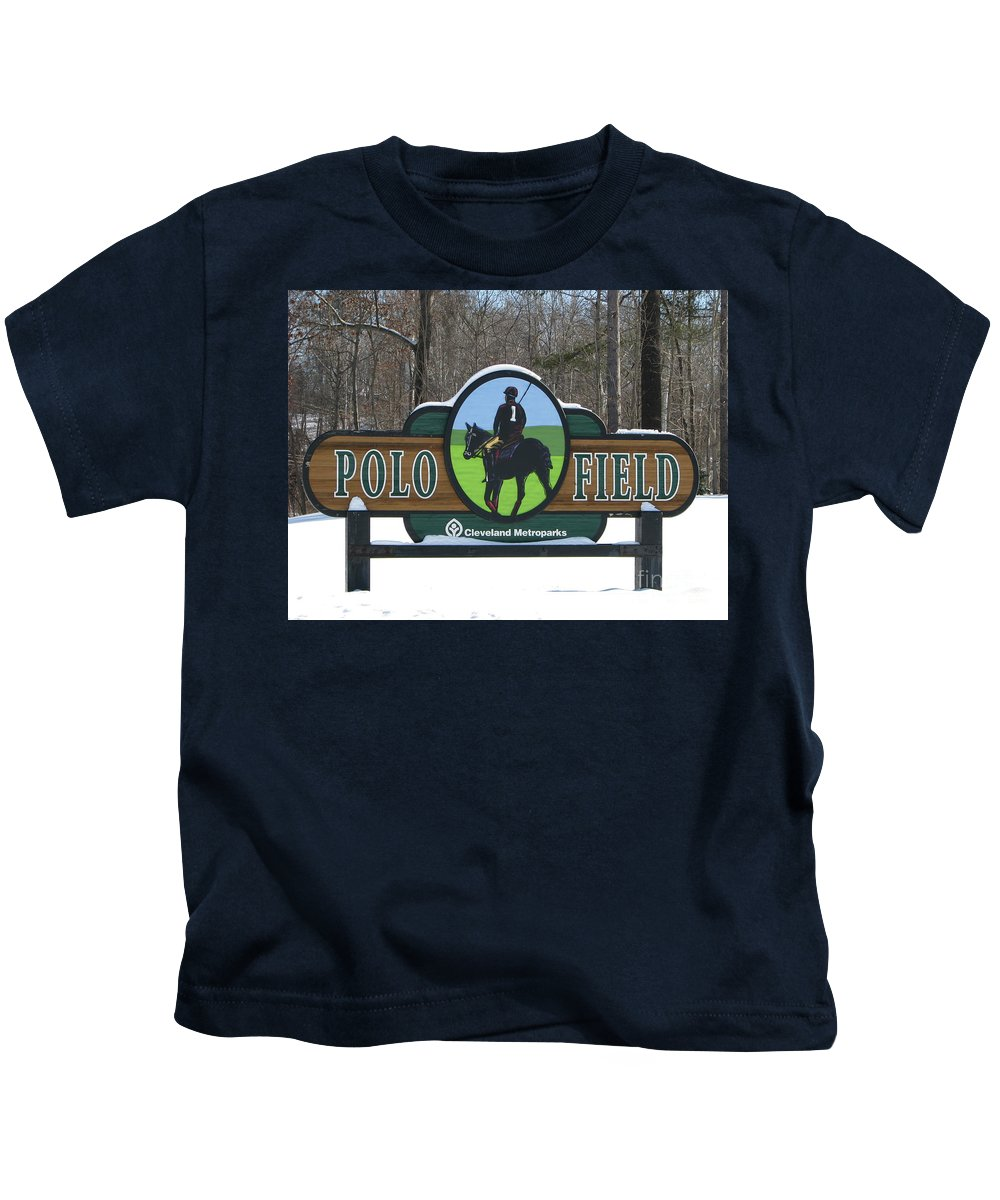 Polo Kids T-Shirt featuring the photograph Polo Field by Michael Krek