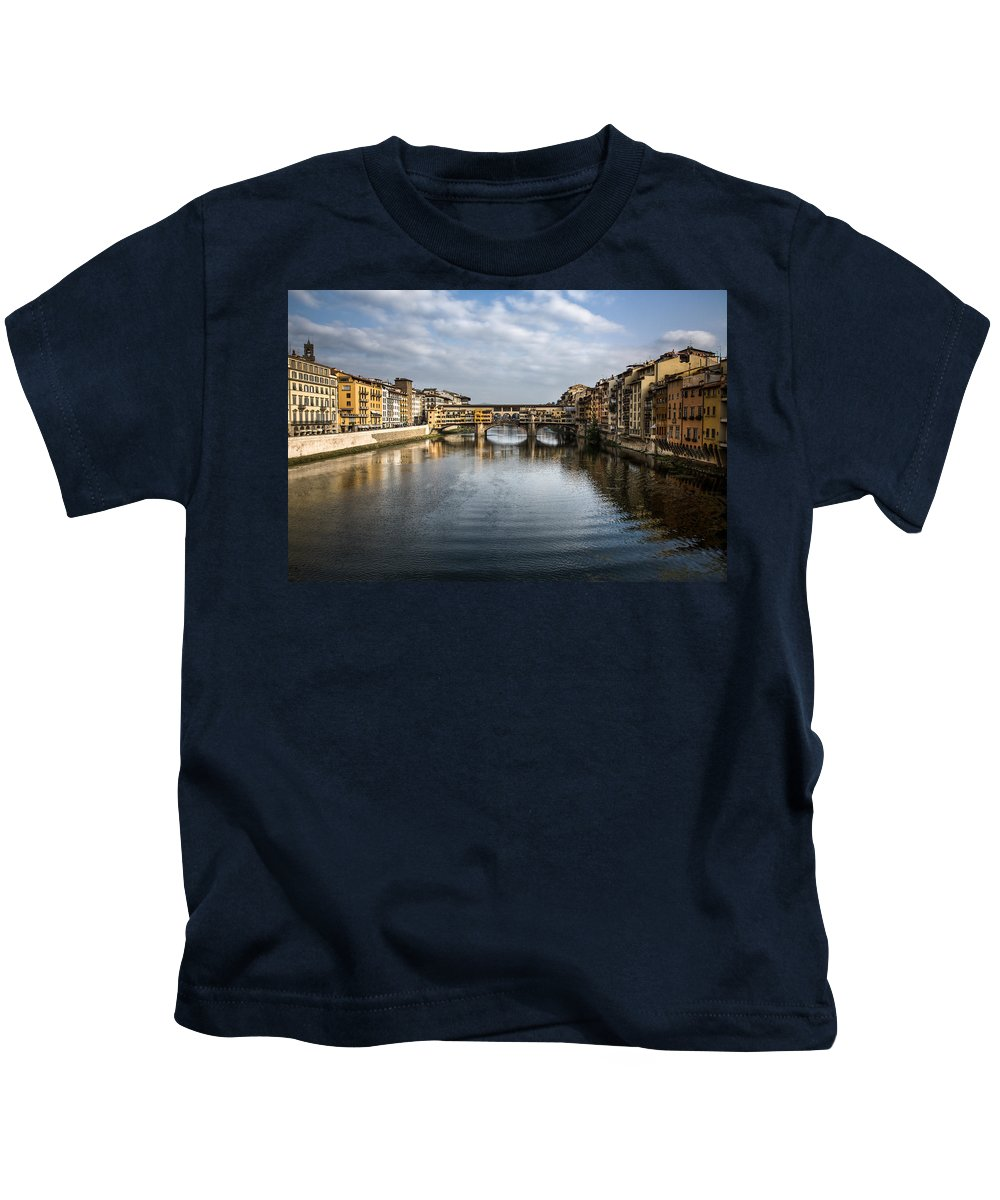 Italy Kids T-Shirt featuring the photograph Ponte Vecchio by Dave Bowman