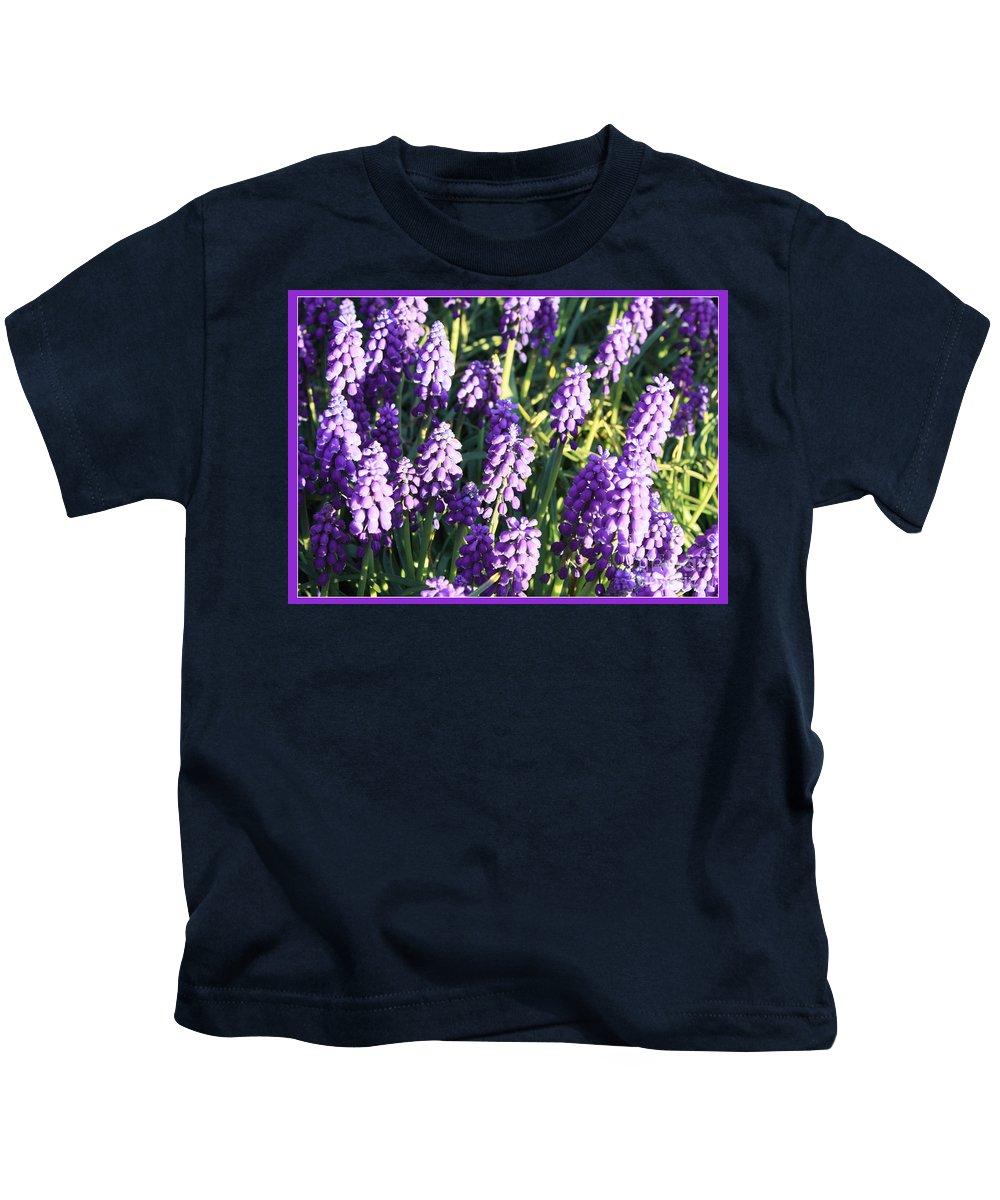 Grape Hyacinth Kids T-Shirt featuring the photograph Purple Grape Hyacinth by Carol Groenen