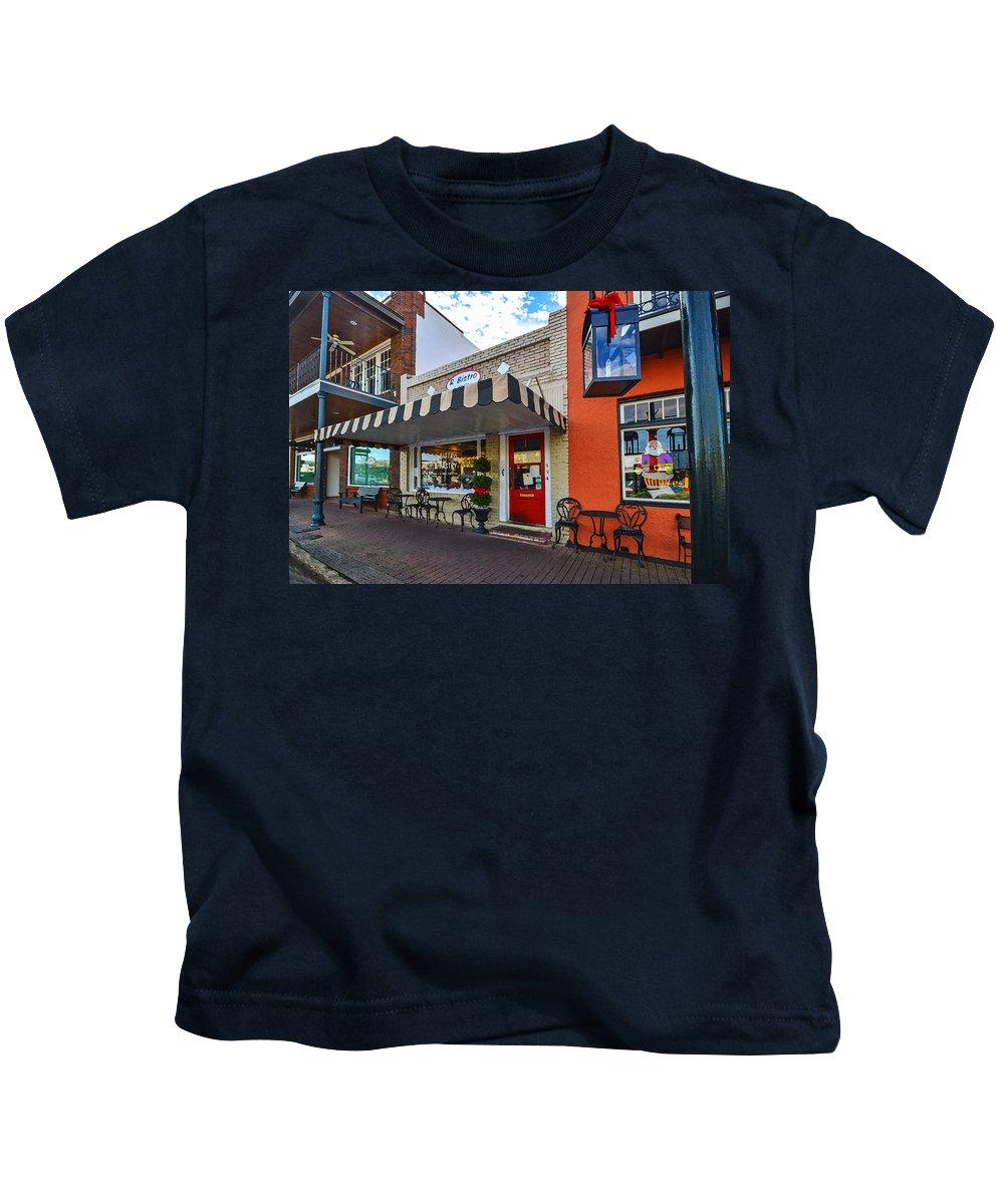 Palm Kids T-Shirt featuring the digital art R Bistro by Michael Thomas