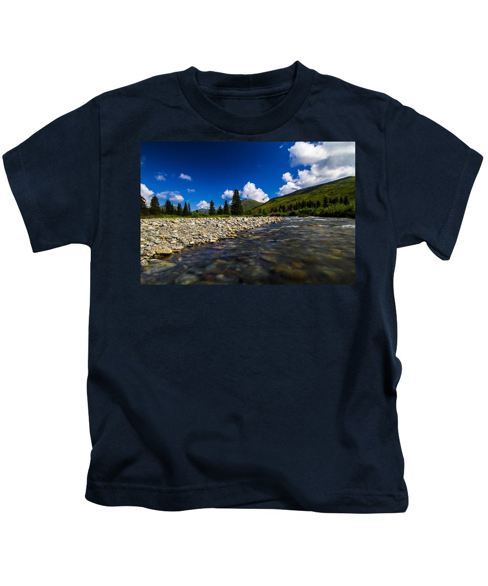 Landscape Kids T-Shirt featuring the photograph Willow Creek by Kyle Lavey