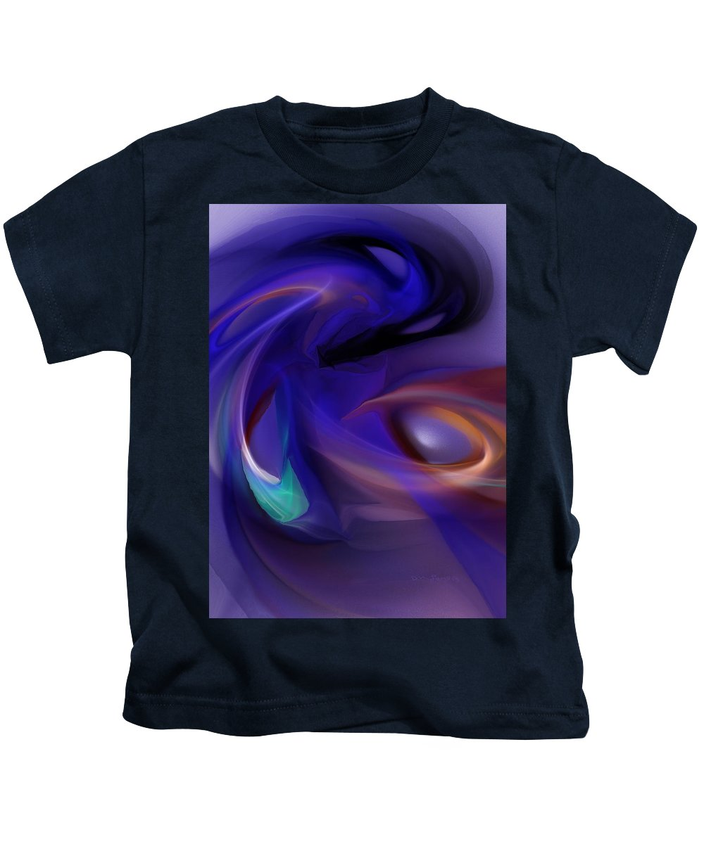 Fine Art Kids T-Shirt featuring the digital art Reaper Of Souls by David Lane