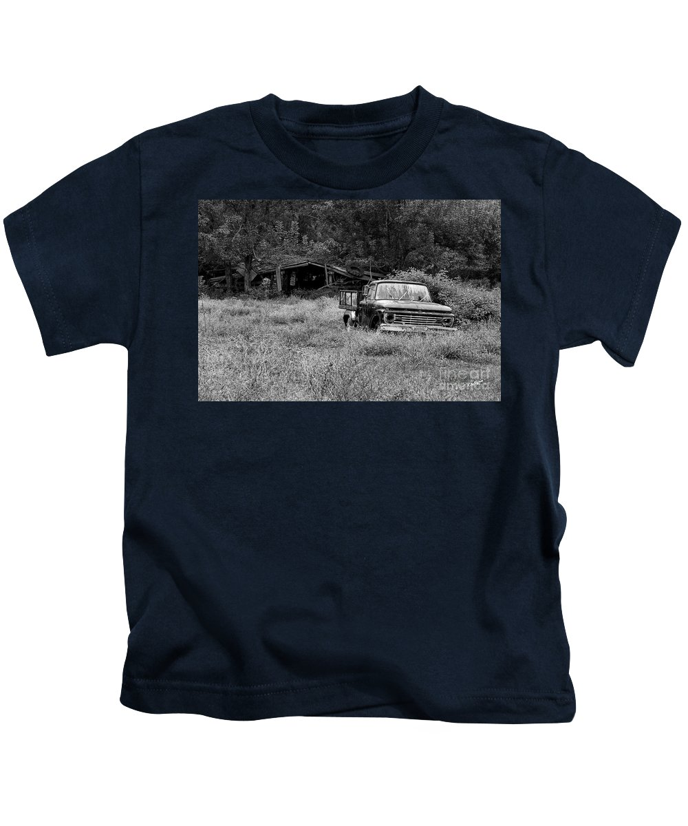 Landscape Kids T-Shirt featuring the photograph Retired by Scott Pellegrin