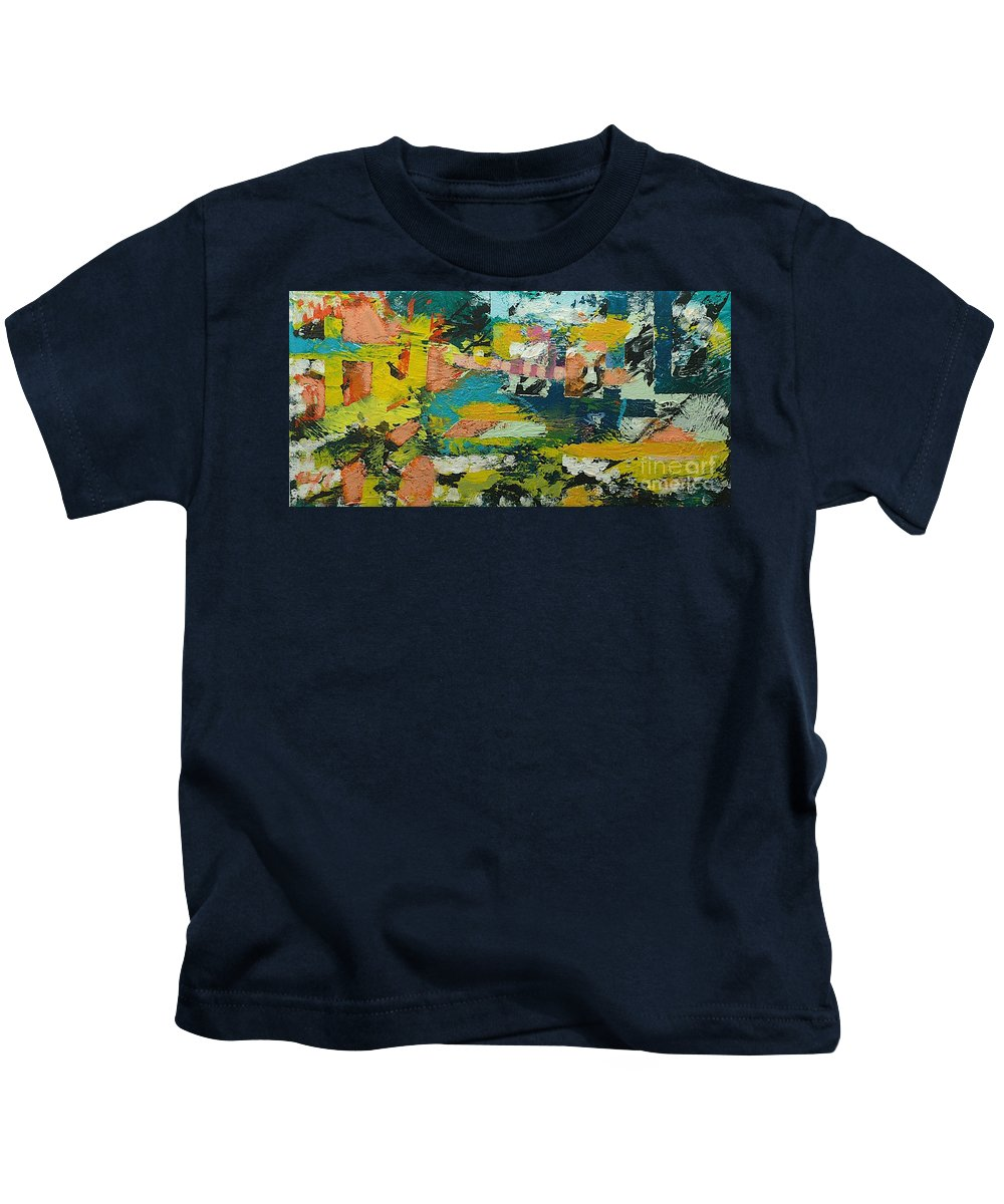 Landscape Kids T-Shirt featuring the painting Rhythm On Jackson by Allan P Friedlander
