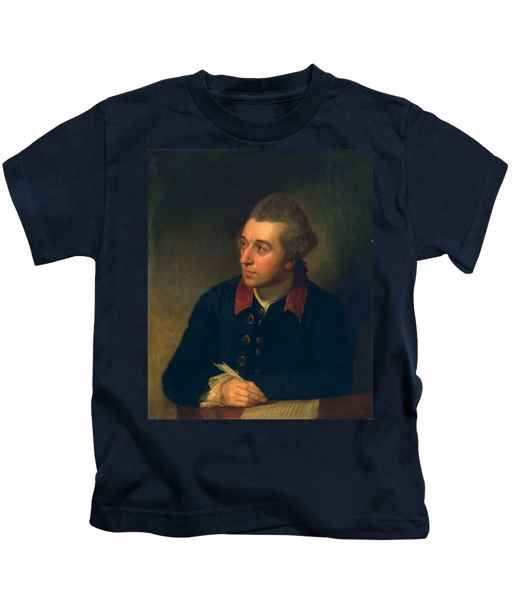 Male Kids T-Shirt featuring the painting Richard Cumberland, C.1771 by George Romney