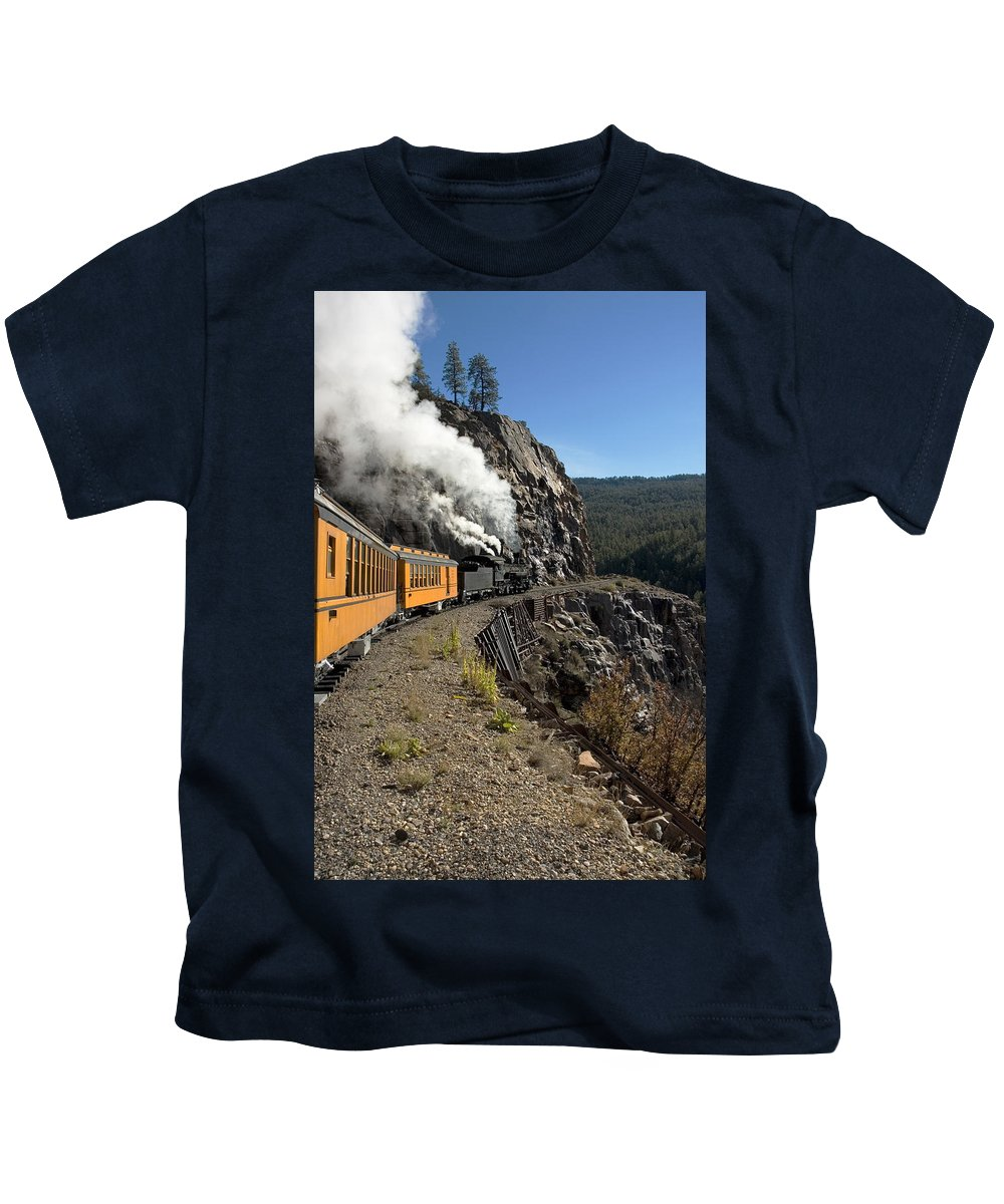 Durango Kids T-Shirt featuring the photograph Rocky Mountain High by Jerry McElroy