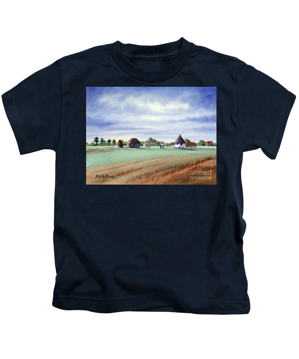 Golf Kids T-Shirt featuring the painting Royal Saint George's Golf Course by Bill Holkham