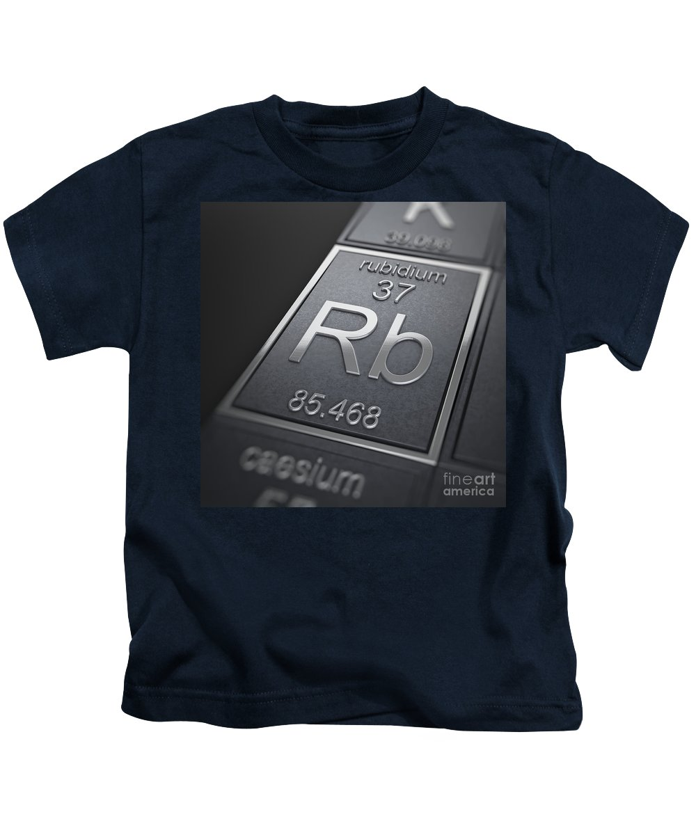 Rubidium Kids T-Shirt featuring the photograph Rubidium Chemical Element by Science Picture Co