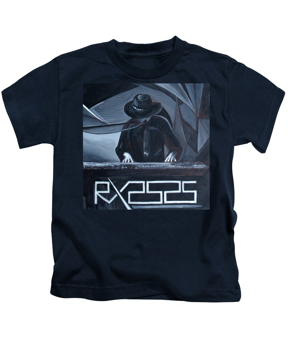 Robert X Kids T-Shirt featuring the painting Rx2525 by Kate Fortin
