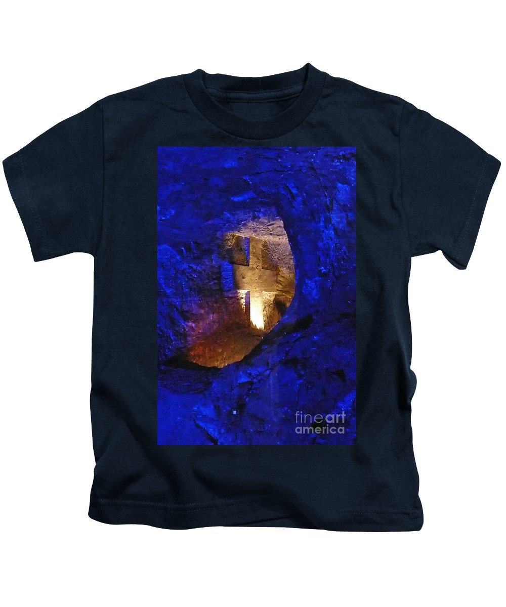 Kids T-Shirt featuring the photograph Salt Cathedral- Colombia by Karla Weber
