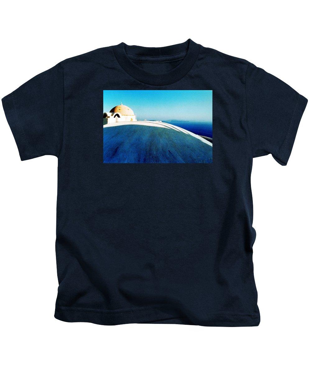 Coletteguggenheim Kids T-Shirt featuring the photograph Santorini Island Greece by Colette V Hera Guggenheim