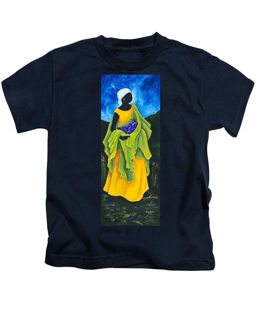 Scarf Kids T-Shirt featuring the painting Season Cayemite by Patricia Brintle