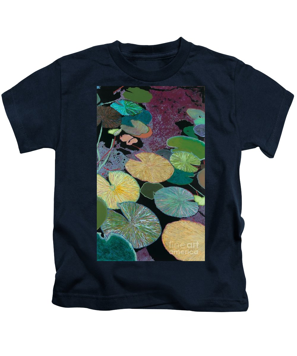 Landscape Kids T-Shirt featuring the painting Secret Hideaway by Allan P Friedlander