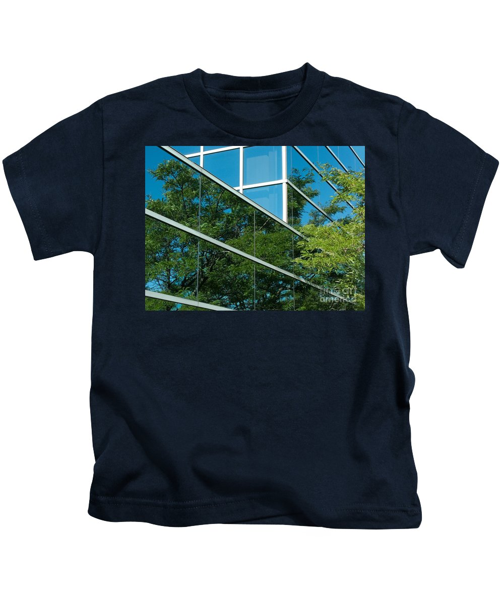 Trees Kids T-Shirt featuring the photograph Seeing Double by Ann Horn