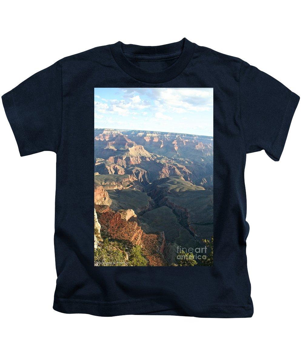 Outdoors Kids T-Shirt featuring the photograph September's South Rim by Susan Herber