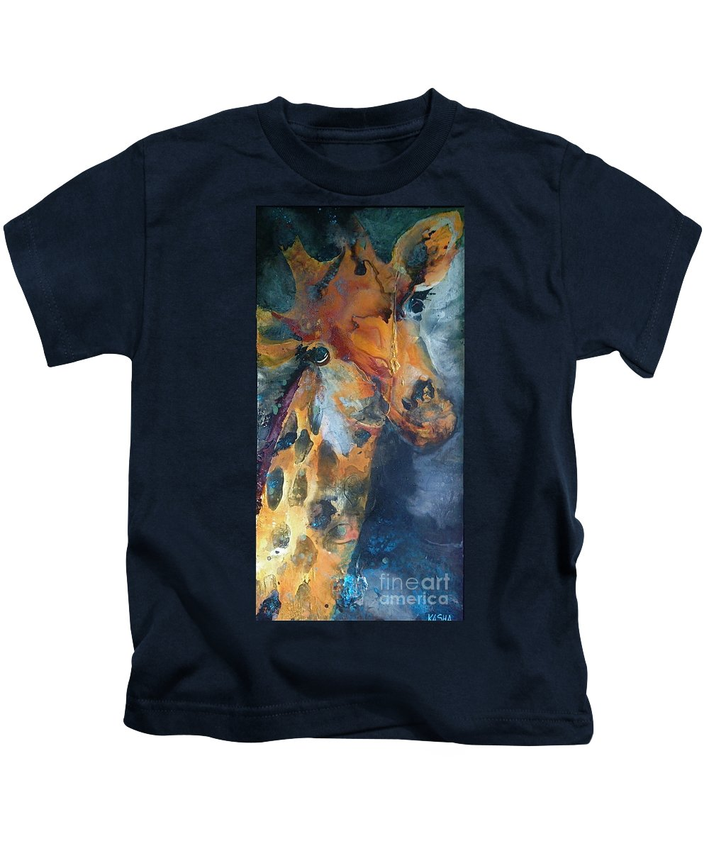 Kasha Ritter Kids T-Shirt featuring the painting Spot On by Kasha Ritter