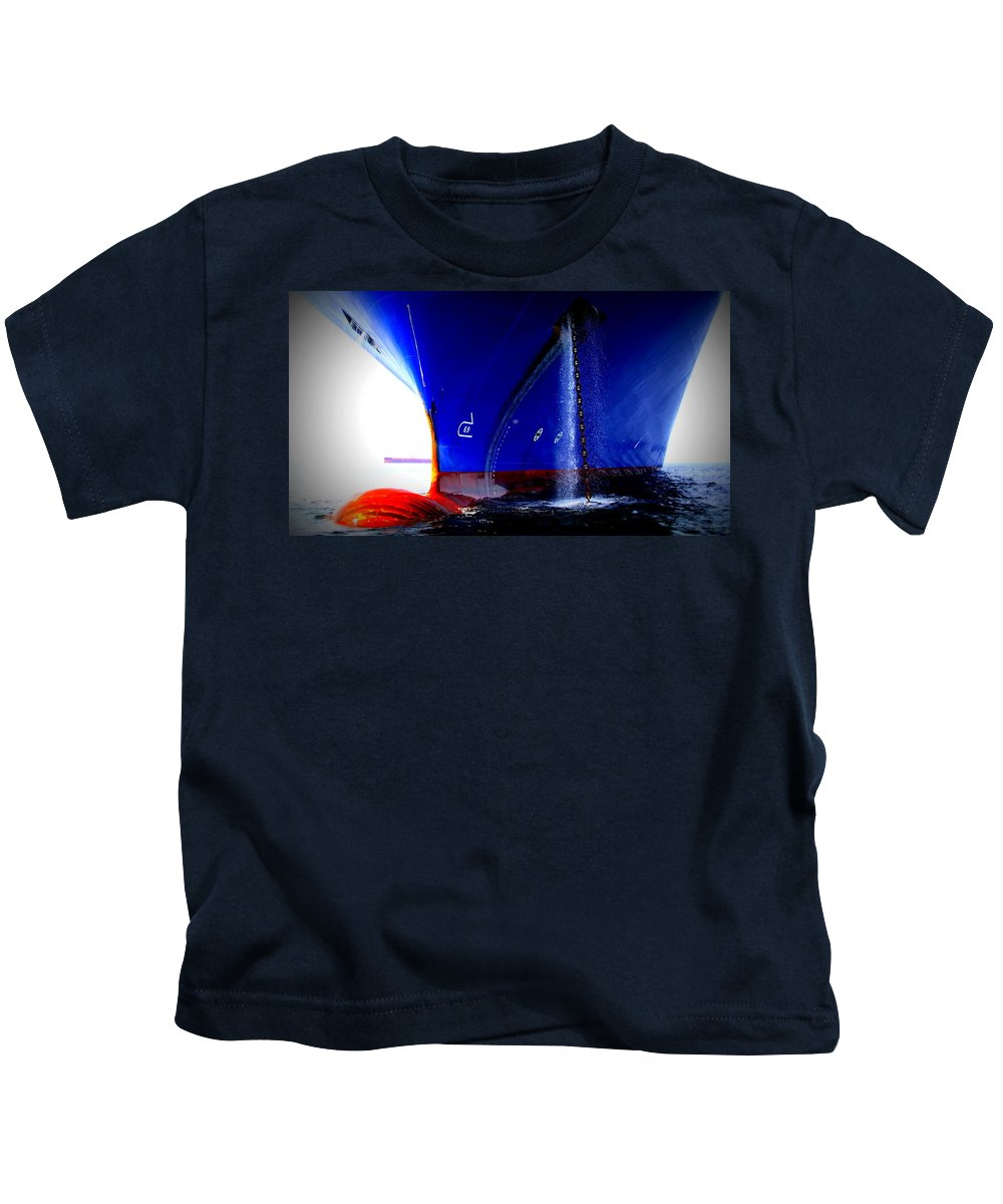 Ship Kids T-Shirt featuring the photograph Ship - Gulf Of Mexico by Travis Truelove