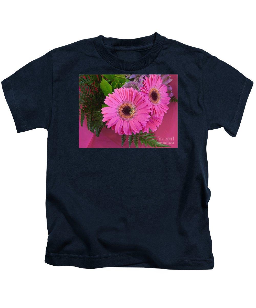 Bouquet Kids T-Shirt featuring the photograph Shocking Pinks by Ann Horn