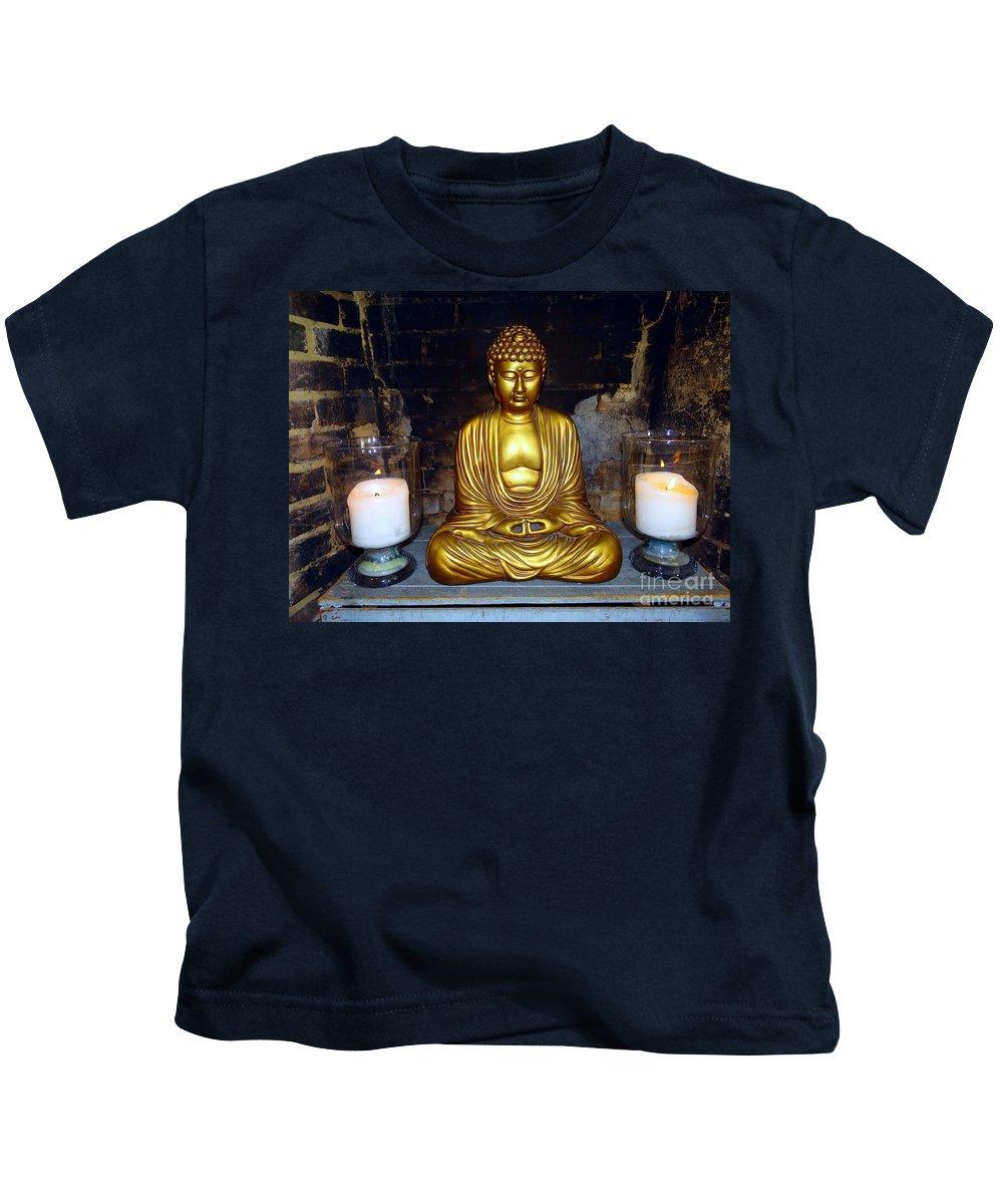 Buddha Kids T-Shirt featuring the photograph Shrine Of Peace by Ed Weidman