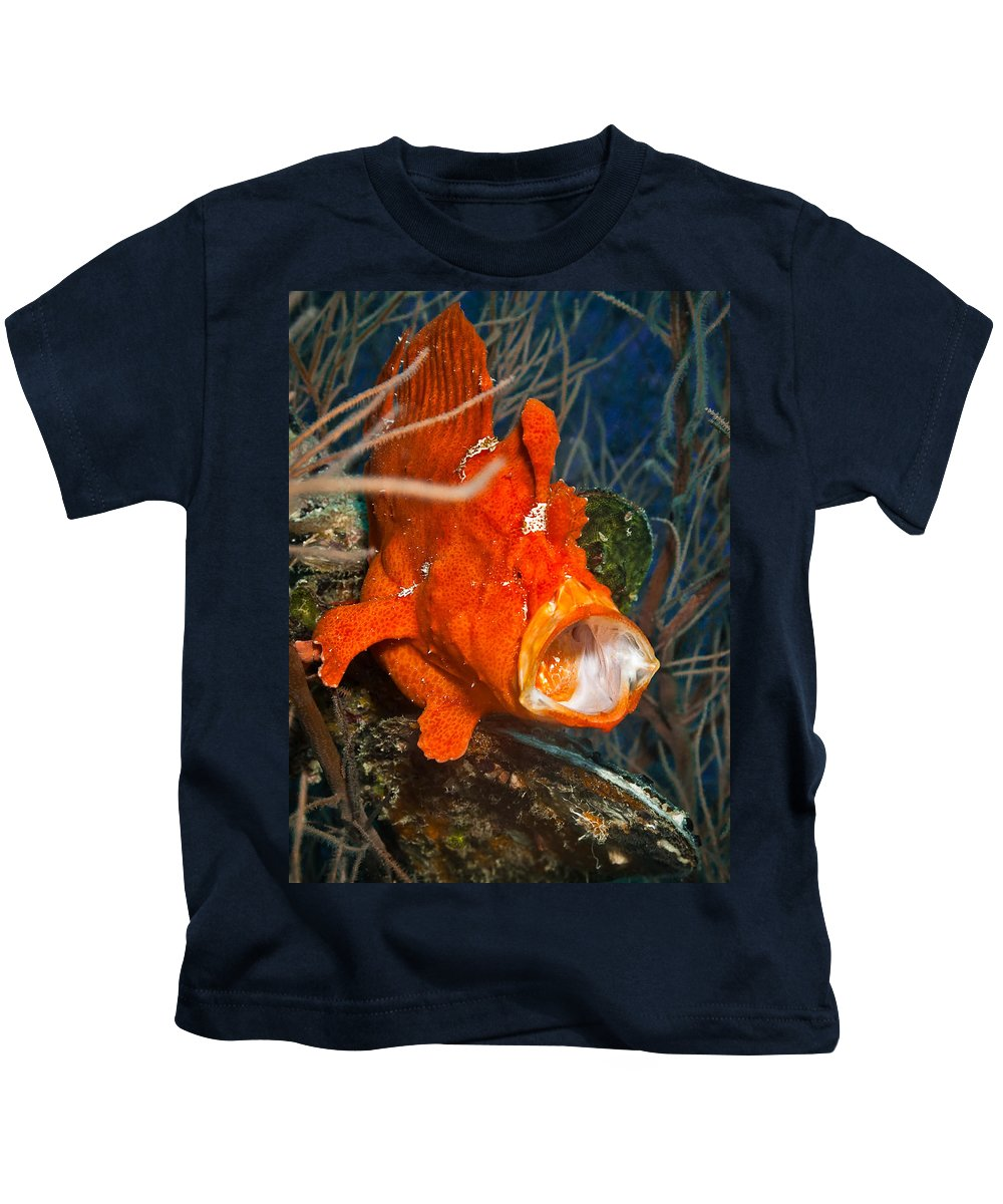 Red Kids T-Shirt featuring the photograph Shut Up by Andrea Timillero