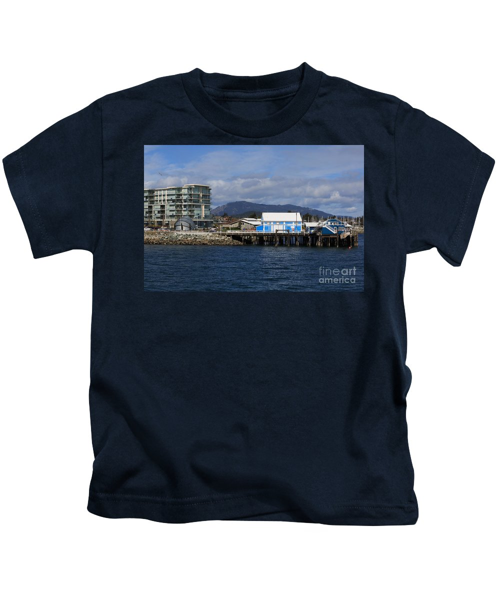 Sidney Kids T-Shirt featuring the photograph Sidney Harbour On Vancouver Island by Louise Heusinkveld