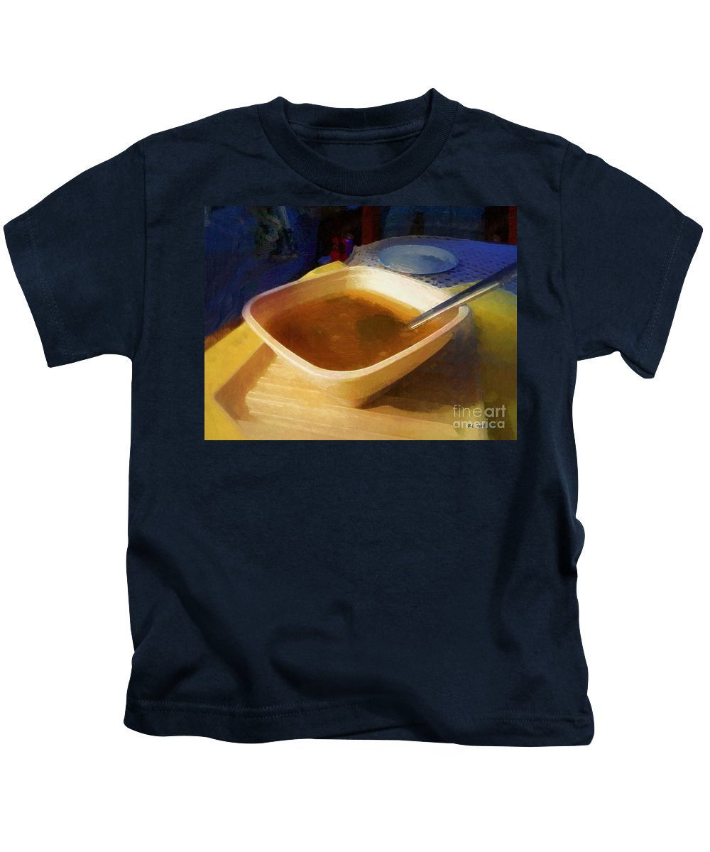 Soup Kids T-Shirt featuring the painting Simple Supper by RC DeWinter