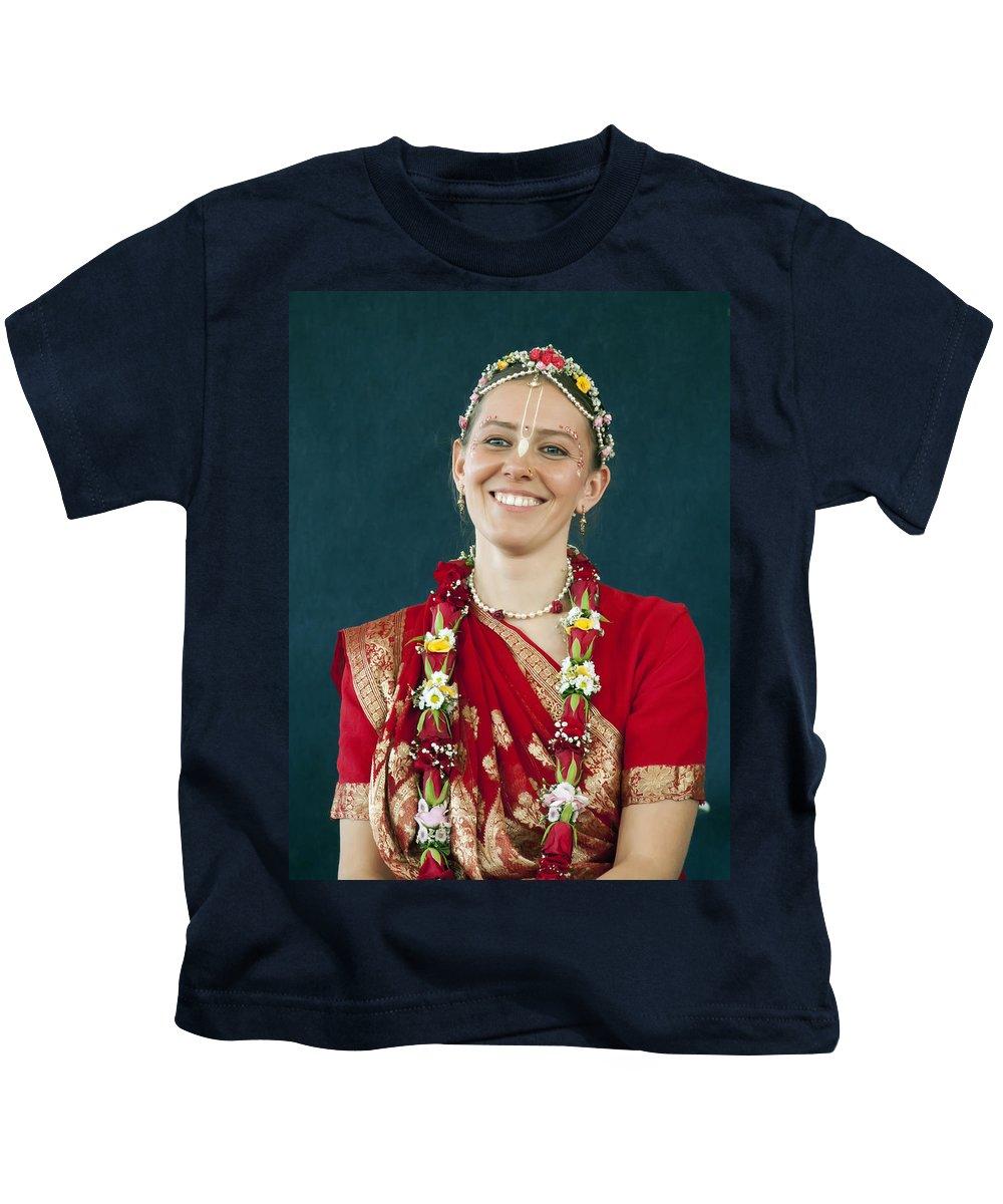 Bride Kids T-Shirt featuring the photograph Smile by Daniel Csoka