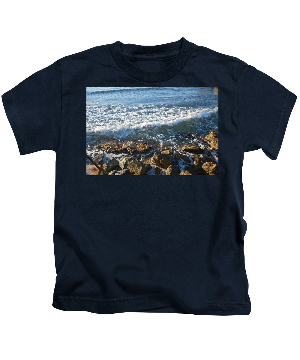 Soft Waves Kids T-Shirt featuring the photograph Soft Waves by George Katechis