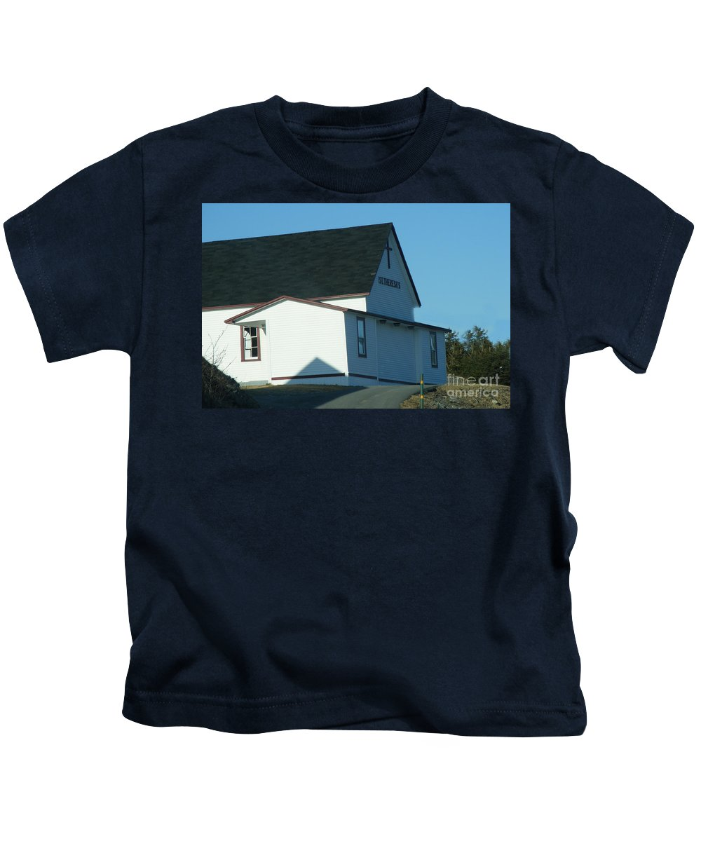 Church Kids T-Shirt featuring the photograph St. Theresa's Church by Barbara Griffin