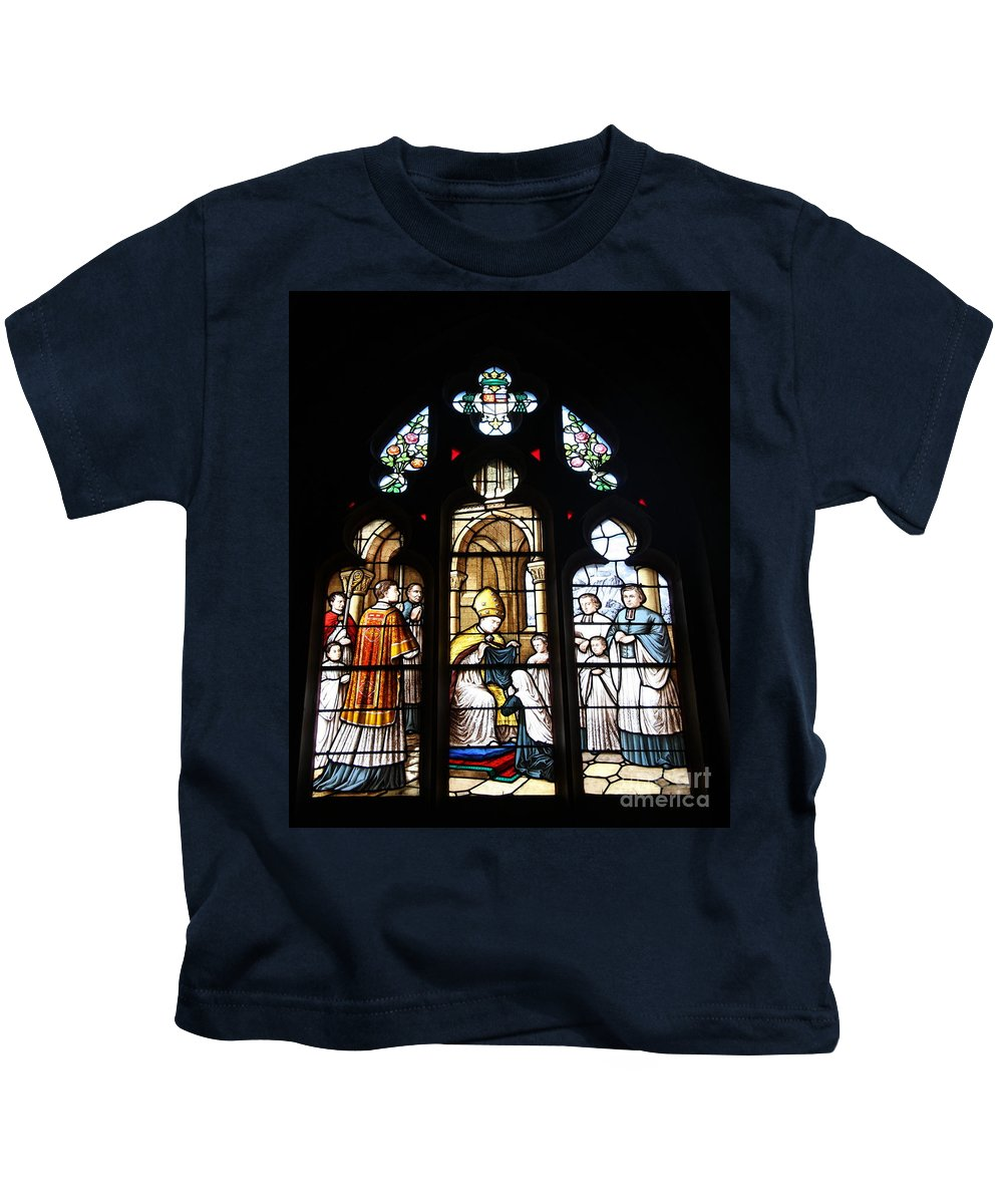 Stained Glass Kids T-Shirt featuring the photograph Stained Glass Window V by Christiane Schulze Art And Photography