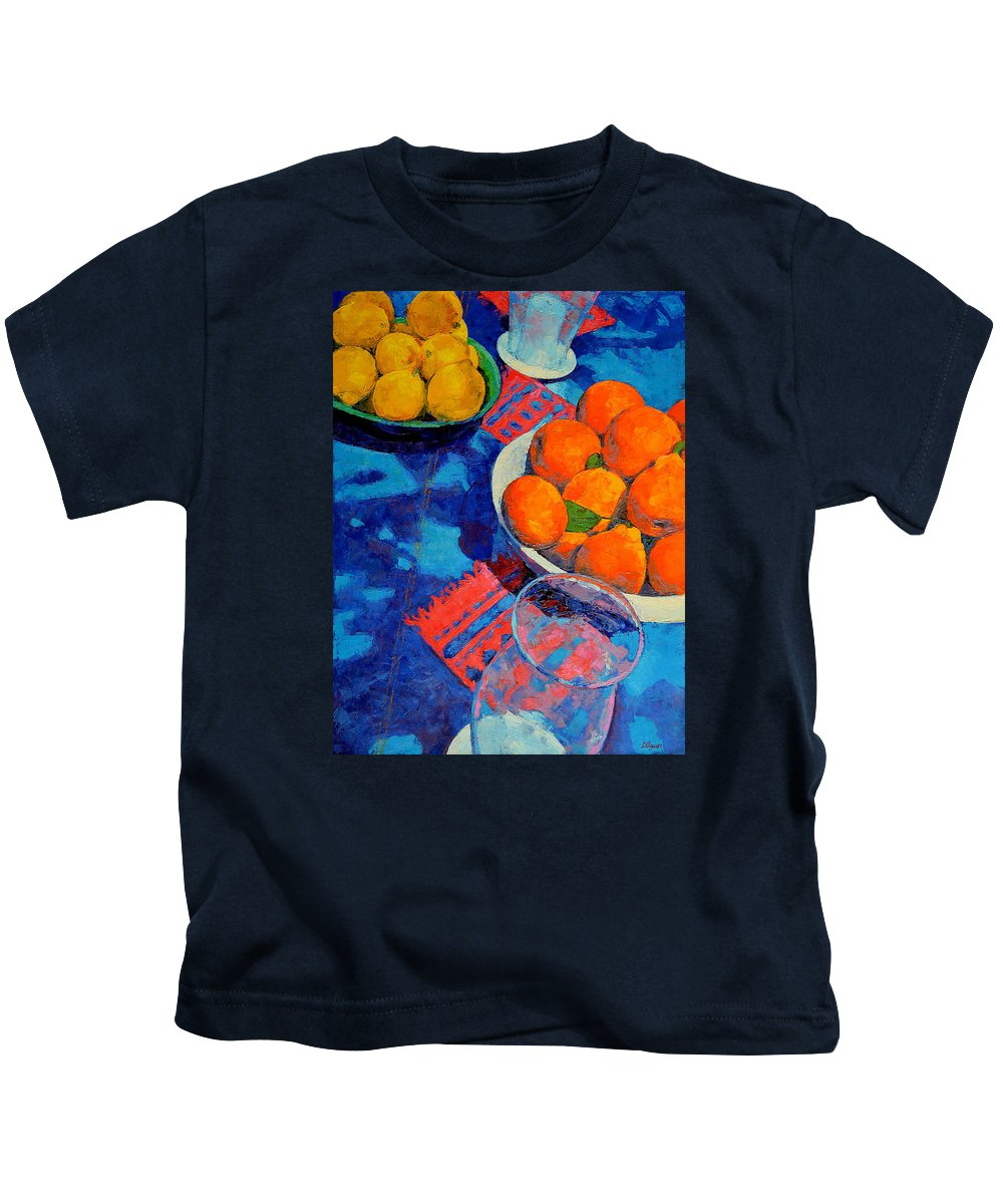 Still Life Kids T-Shirt featuring the painting Still Life 2 by Iliyan Bozhanov