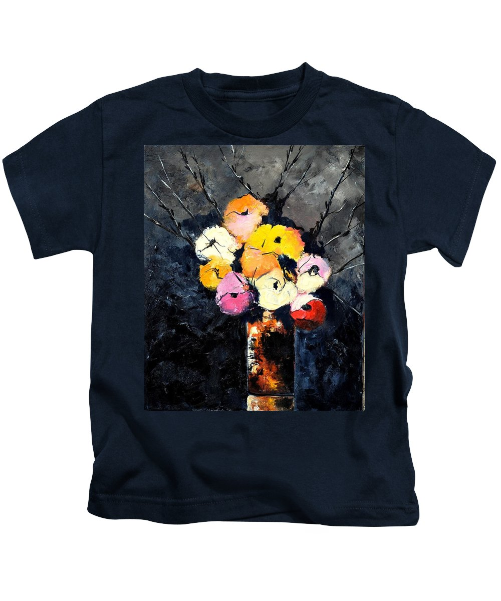 Stil Life Kids T-Shirt featuring the painting Still Life 563160 by Pol Ledent