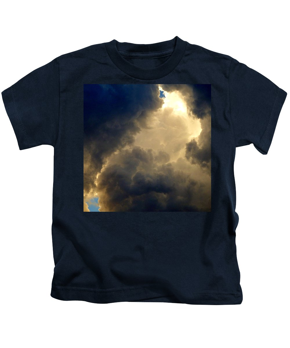 Stormy Kids T-Shirt featuring the photograph Storm Clouds 6 by David G Paul