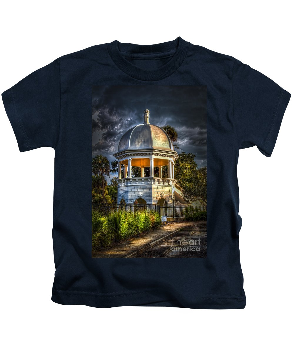 Gazebo In Sulfur Springs Kids T-Shirt featuring the photograph Sulfur Springs Gazebo by Marvin Spates