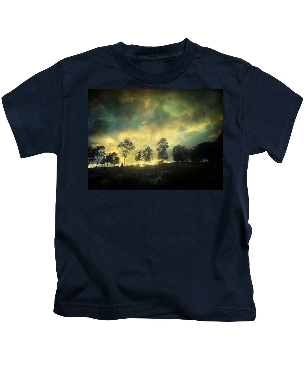 Nature Kids T-Shirt featuring the photograph Sunset Trip by Zapista