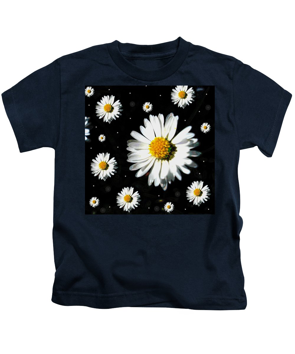 Floral Kids T-Shirt featuring the mixed media Sunshine In Your Home by Pepita Selles