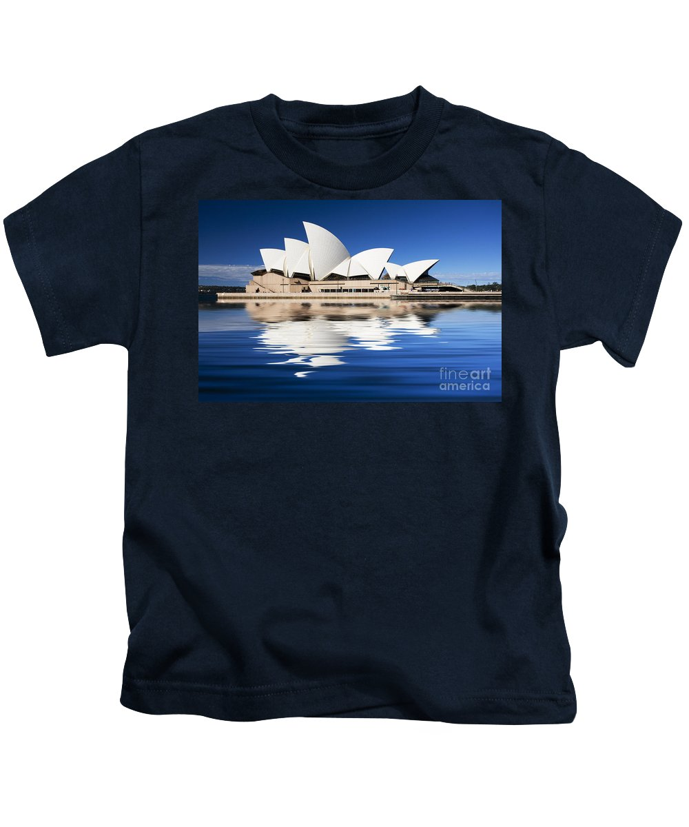 Sydney Opera House Kids T-Shirt featuring the photograph Sydney Icon by Sheila Smart Fine Art Photography