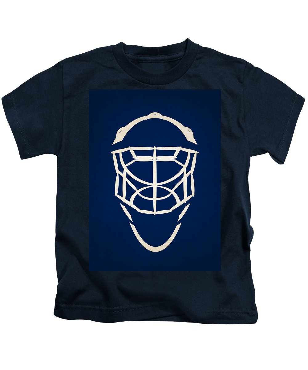 Lightning Kids T-Shirt featuring the photograph Tampa Bay Lightning Goalie Mask by Joe Hamilton