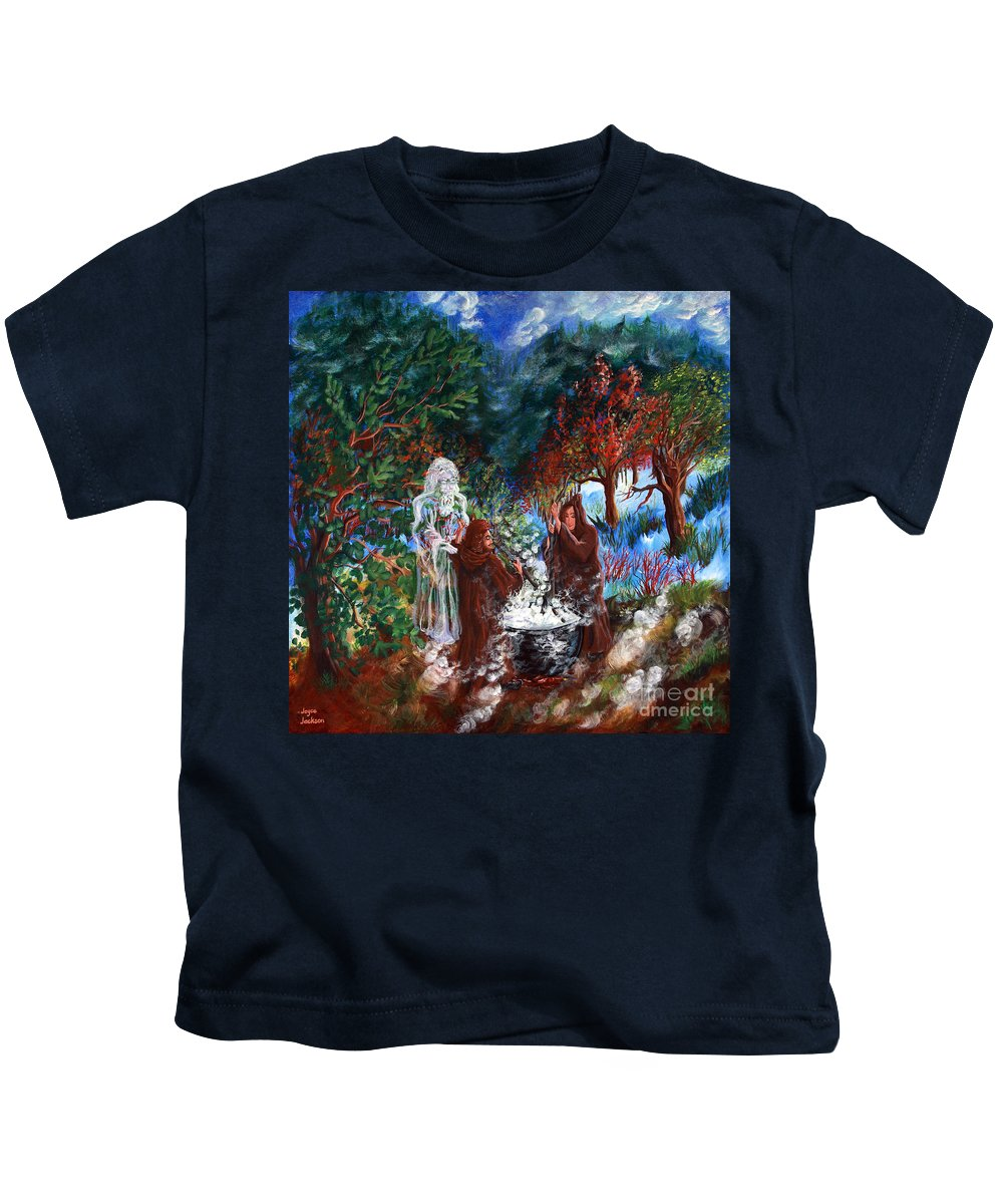 Spiritual Kids T-Shirt featuring the painting The Alchemists by Joyce Jackson