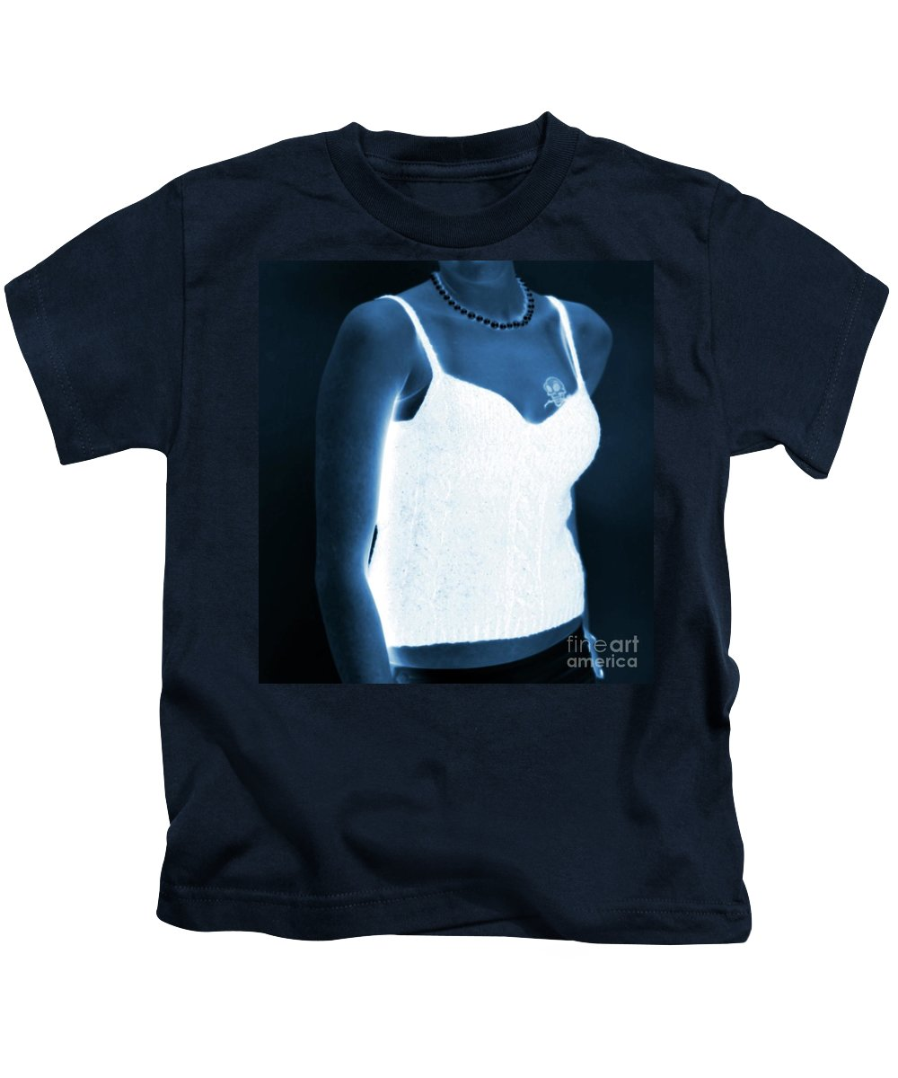 Tattoo Kids T-Shirt featuring the photograph The Blue Lady by Kathleen Struckle