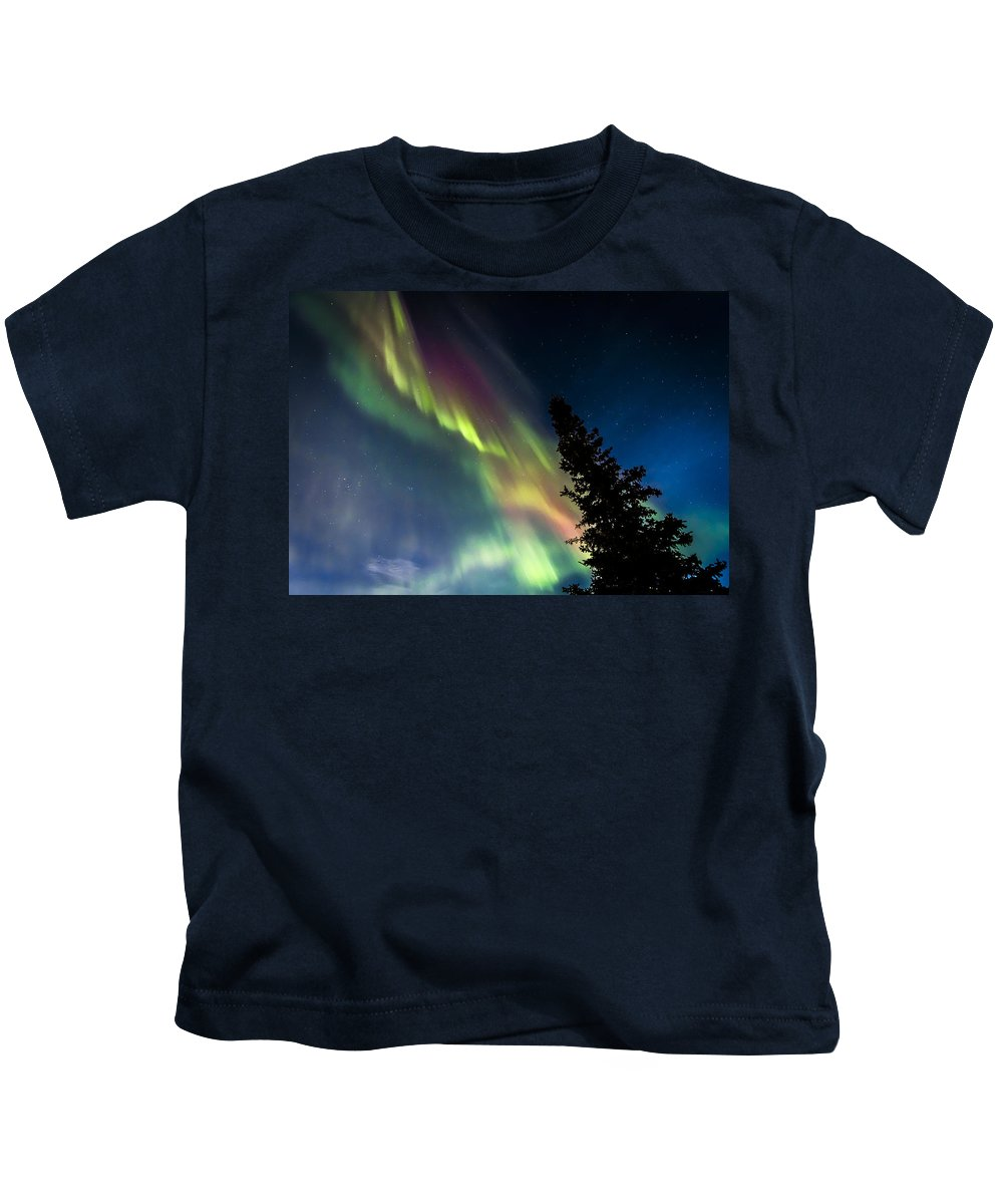Aurora Kids T-Shirt featuring the photograph The Burning Tree 2 by Kyle Lavey