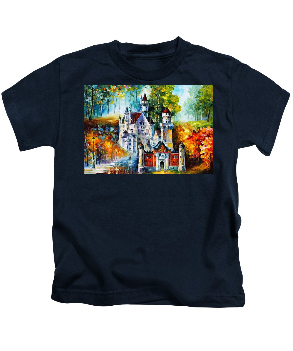 Castle Kids T-Shirt featuring the painting The Castle Of 4 Seasons by Leonid Afremov