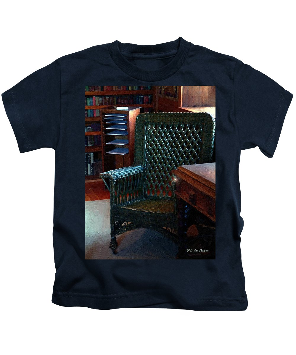 Antiques Kids T-Shirt featuring the painting The Consulting Room by RC DeWinter